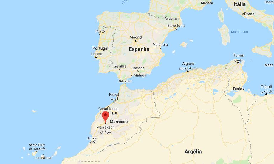 mapa marraquexe marrocos