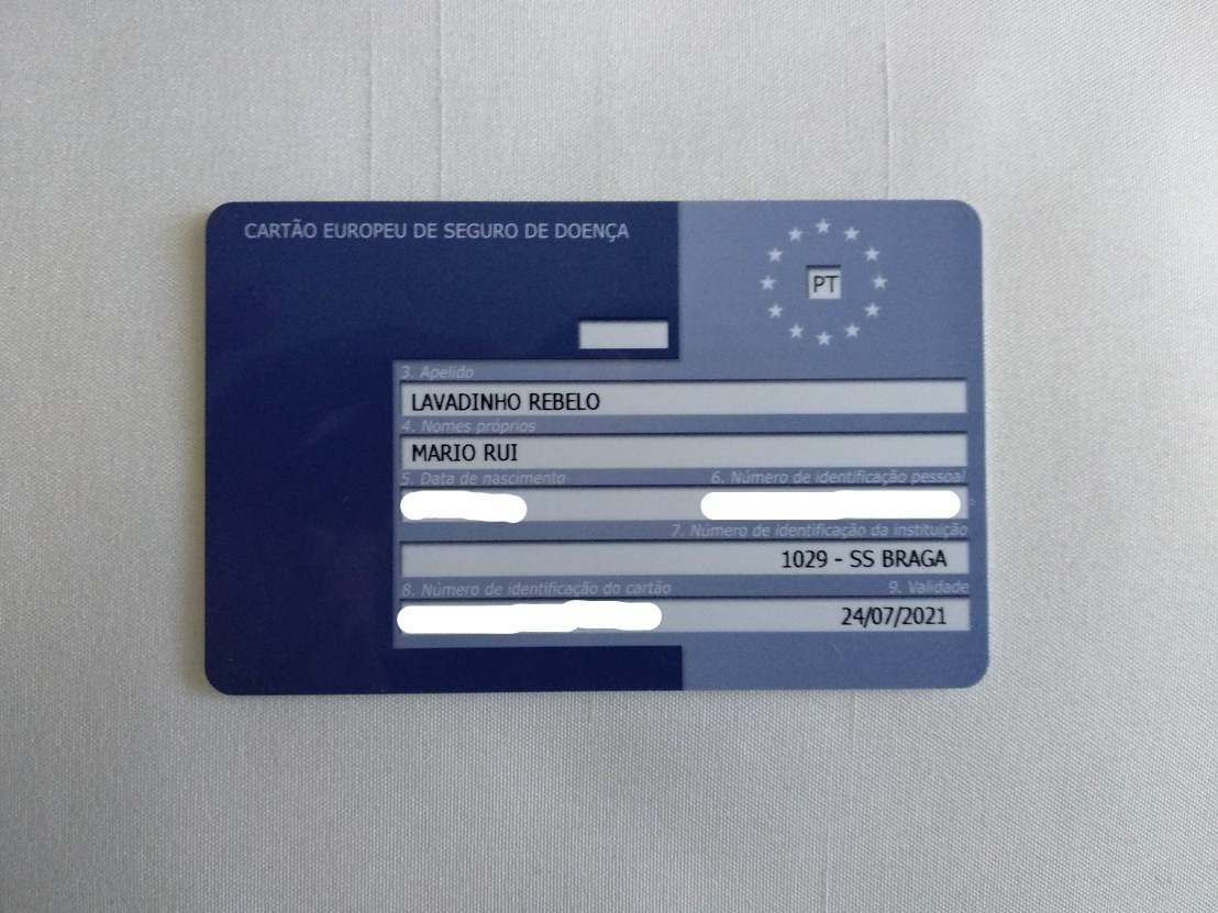 planear uma viagem cartão europeu de saúde